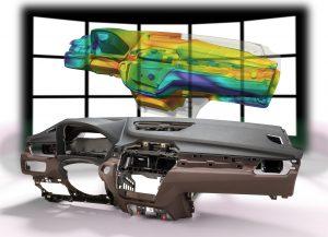 """Yanfeng Automotive Interiors nutzt die virtuelle Prozessauslegung beim Schäumen von PU-Systemen mithilfe des BASF-Simulationswerkzeugs """"Ultrasim"""" für Instrumententafeln, die er für aktuelle Fahrzeuge wie den BMW X1 herstellt (Abbildung: BASF)"""