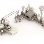 Im Kaskadenprozess mit zwei Doppelschneckenextrudern werden aus Reststoffen direkt und schonend Compounds hergestellt. (Foto: Krauss Maffei Berstorff)