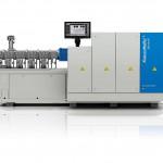 Der Zweischneckenextruder ZE Blue Power sorgt beim Compoundieren für hohe Leistungen bei niedrigem Energieverbrauch. (Foto: Krauss Maffei Berstorff)