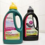 Die blasgeformte Waschmittelflasche besteht zu 95 % aus ausgedienten Kunststoffverpackungen. (Foto: Alba)