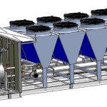 In der gelieferten Kälteanlage arbeiten drei eigenständige Maschinen in einem kompakten Gehäuse. (Abb.: GCM)