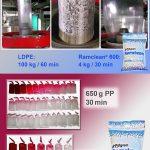 Das Reinigungsgranulat Ramclean eignet sich für alle gebräuchlichen Verarbeitungsverfahren sowie nahezu alle Thermoplaste und bietet ein hohes Einsparpotenzial. (Abb.: Polyram/Resinex)