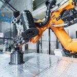 Der 3D Fibre Printer ermöglicht es, Composites zu verdrucken und stabilere Bauteile herzustellen. (Foto: Fraunhofer IPA /Rainer Bez)