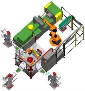 Mit der kurzen Zykluszeit von 40 s ist die MAK 242025 von MartinMechanic bei der Produktion von Buchsenleisten für die Elektronikindustrie im Einsatz. (Foto: MartinMechanic)