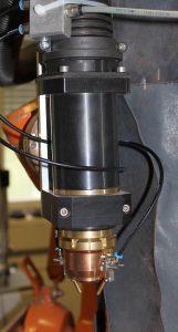 Der Plasmakopf besteht aus einer Kombination aus spanabhebend und additiv gefertigten Bauteilen. (Foto: EVO-tech)