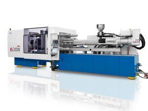 Für das Spritzprägen im Etagenwerkzeug kommt eine modifizierte ELION 2800-2000 zum Einsatz. (Foto: Netstal)