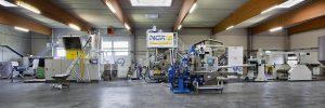 Komplettanlage zum direkten Upcyceln von PET-Produktionsabfällen zu Folien. (Foto: NGR)