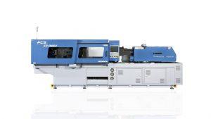 Servohydraulische FCS-Spritzgießmaschine mit 1.500 kN Schließkraft und 32-bit-Regelungstechnik von Keba aus Österreich, die mit allen Euromap-Schnittstellen zur Integration von Peripheriegeräten kommuniziert. (Foto: Keba)