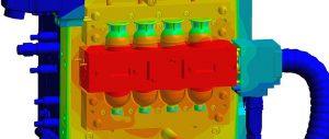 Die Prozessauslegung des 2K-Eierbechers auf der umgerüsteten 1K-Maschine erfolgte vorab mit Sigmasoft Virtual Molding. (Abb.: Sigma)