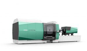 Weltpremiere: Der hybride Allrounder 1120 H erweitert das Arburg-Produktportfolio in den Schließkraftbereich bis 6.500 kN. Wegweisend sind zudem das neue Design und die neue Gestica-Steuerung. (Foto: Arburg)