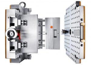 Die Kombination aus Kleinserienwerkezug und Schnellspannsystem reduziert die Rüstzeiten. (Foto: Hasco)