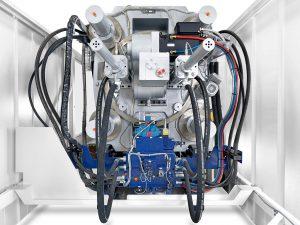 In der Schließeinheit der Elios kommt ein patentierter elektrischer Antrieb mit hydromechanischer Unterstützung für den Schließkraftaufbau zum Einsatz. (Foto: Netstal)