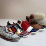 Auf dem Stand der BASF werden preisgekrönte Schuhe präsentiert. (Foto: BASF)