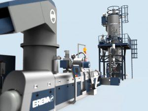 Die Kombination von Refresher und TVEplus-Technologie bietet selbst bei stark verschmutzten Verpackungsabfällen geruchsneutrale Rezyklate. (Foto: Erema)