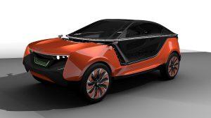 Das neue Konzept für die Fahrzeuggestaltung nimmt aktuelle Trends im Außendesign auf. (Abb.: Covestro)
