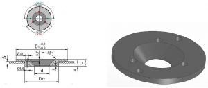 Der Zentrierflansch HSB 100 M erleichtert das Zentrieren der Form auf den Aufspannplatten. (Abb.: HSB Normalien)