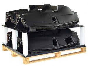 Vier Bauteile können sicher in einem Behälter gelagert werden. (Foto: Friedola Tech)