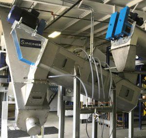 Im Twister, einem hoch effizienten Friktionswäscher von Lindner, trennt Poly-Wood Papieranhaftungen und andere verbliebene Verunreinigungen ab. (Foto: Lindner washTech)