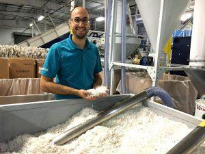 Das Endergebnis sind saubere, trockene PE-HD-Flakes für die direkte Weiterverarbeitung in einer Recycling-Linie. (Foto: Lindner washTech)