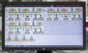 Sämtliche Funktionen und Einstelldaten der komplexen Förder- und Dosieranlage werden mittels Controlnet, einem integrierten Steuerungskonzept zur Bedienung, Überwachung und Verwaltung aller Schritte des Rohmaterialhandlings angesteuert und sind über Linknet 2.0 an das Motan-Leitrechnersystem angebunden. (Foto: Motan)