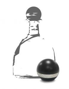 Dekorative Verschlusskappe für Spirituosen: Spritzgegossen aus mit Fe2O3 gefülltem PP und teilweise metallisiert. (Foto: HRSflow)