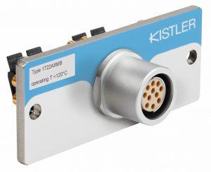 Der Mehrkanalstecker Typ 1722 ist robust im Handling und bietet einen einfachen Anschluss von Single-Wire-Kabeln. (Foto: Kistler)