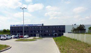 Das neue Gebäude der Firma Boryszew Oberflächentechnik Deutschland in Prenzlau. (Foto: Wittmann Battenfeld)