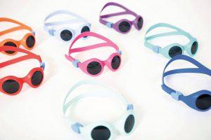 Neuartige Sonnenschutzbrille BabyPyke mit flexiblem Gestell aus leichtfließendem TPE. (Foto: Pyke)