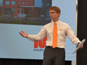 Maplan-Geschäftsführer Wolfgang Meyer präsentierte anlässlich der Hausmesse ehrgeizige Vorhaben. (Foto: K-AKTUELL)