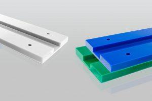 Erstmals sind dauerhaft antistatische Gleitwerkstoffe in Farbe erhältlich. (Foto: Röchling)