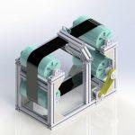 Modell der Prüfung mit Luftultraschall an einem Pultrusionssimulator. (Foto: IKT)