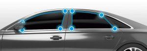 Die neuen TPE-Materialien mit Haftung zu EPDM wurden speziell für den Automobil-Exterieur Bereich entwickelt. (Foto: Kraiburg TPE)