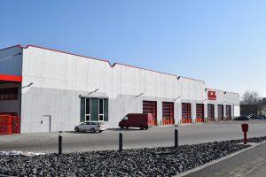 Außenansicht des neuen Logistikzentrums. (Foto: Roth Werke)
