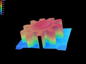 3D Scan eines Bauteils (Foto: MTH)