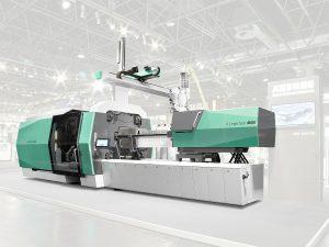 Arburgs neuer hybrider Allrounder 1120 H mit 6.500 kN Schließkraft, neuem Design und neuer Gestica-Steuerung kann ab der Fakuma 2017 bestellt werden. (Foto: Arburg)