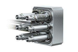 Das neue 6-fach Heißkanalsystem für Kleinspritzgießmaschinen. (Foto: Ewikon)