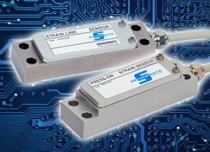 Die Dehnungssensoren SL76-VDA und SB76-VDA mit integriertem Verstärker verarbeiten das Signal direkt an der Montagestelle und eliminieren somit mögliche EMV-Probleme. (Foto: Gefran)