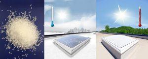 Das Masterbatch Acrysmart verändert die Lichtdurchlässigkeit von PMMA in Abhängigkeit von der Umgebungstemperatur. (Foto/Abb.: Quarzwerke)