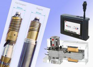 Neue, platzsparende Full Compact Nozzles (l.), servoangetriebene Flexflow-One-Heißkanal-Technologie, die mittels externem Smart Interface (r.o.) programmiert wird, sowie neue Druckplatten (r.u.). (Foto: HRSflow)