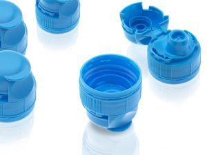 Dünnwandteile brauchen Power beim Einspritzen: Flip-Top-Verschlüsse Typ Fontane für die Verpackungsindustrie. (Foto: Krauss Maffei)