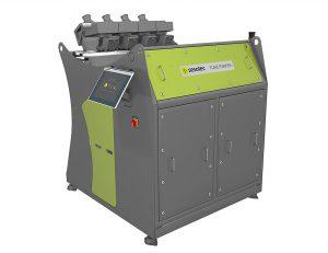 Die neue Generation des Multi-Sensor-Sortiersystems Flake Purifier+ ist zur optischen Sortierung von Kunststoff-Flakes wie z. B. PET-, HDPE- oder Mischkunststoff geeignet. (Foto: Sesotec)