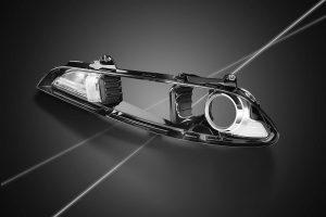 Der Scheinwerfer-Reflektor im Hyundai ix35 aus dem PESU Ultrason E ist nicht nur hochfunktional, sondern auch formschön. Darüber hinaus übersteht er dauerhaft hohe Temperaturen. (Foto: BASF)