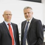 Die beiden Eigentümer und Geschäftsführer von 1zu1 Prototypen in Dornbirn, Hannes Hämmerle (links) und Wolfgang Humml. (Foto: 1zu1 Prototypen/DarkoTodorovic)