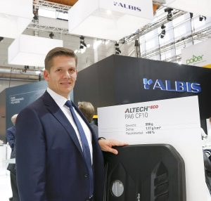 Philip O. Krahn, CEO Albis Plastic, auf der Fakuma. (Foto: K-AKTUELL)