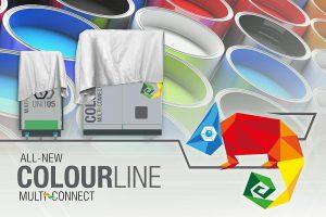 Das neue Maschinensystem Colourline: Basierend auf der Clearmelt-Technologie lassen sich Farbsysteme einsetzen, um kratzfeste und hochqualitative Oberflächen auf Spritzguss-Bauteilen zu erzeugen. (Foto: Hennecke)