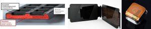 Die Messe-Schwerpunkte des KUZ (v.l.n.r.): Ultraleichter Thermoplast-Schaumspritzguss, veredelte Oberflächen, präzise Mikroformteile. (Foto: KUZ)