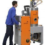 Motan: Mobile Trockenlufttrockner für kleine Materialdurchsätze und neues Fördergerät