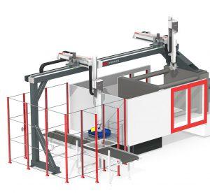 Beim Wemo Tandem Concept sind zwei Roboter auf einer Linearachse installiert. (Foto: Wemo)
