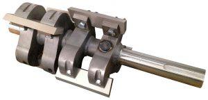 Die abgeschrägten Messer des Rotors sorgen auch bei dickwandigen und klobigen Teilen für einen unproblematischen Mahlvorgang. (Foto: Wittmann)