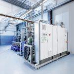 Aufgeräumt und großzügig präsentiert sich die neue Kältetechnik im Kettler-Werk Mersch. (Foto: L&R)